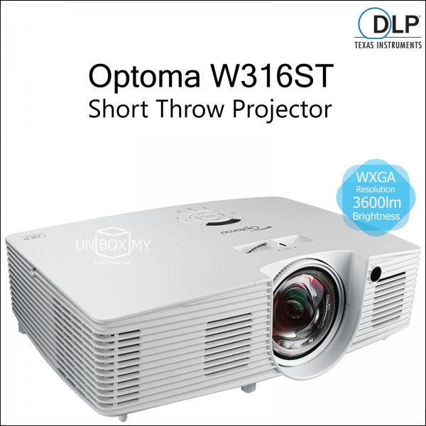 Optoma W316ST DLP WXGA Short Throw Projector