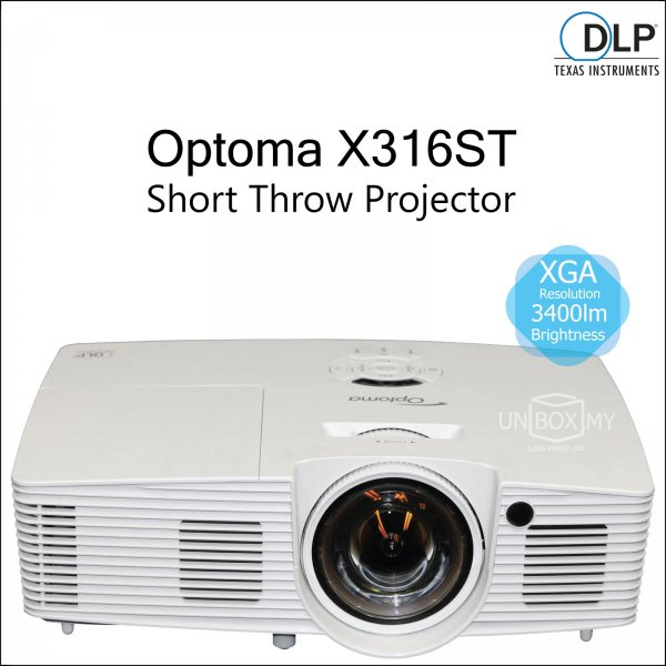 Optoma X316ST DLP XGA Short Throw Projector