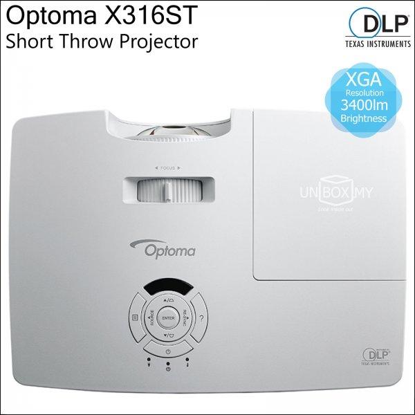 Optoma X316ST DLP XGA Short Throw Projector