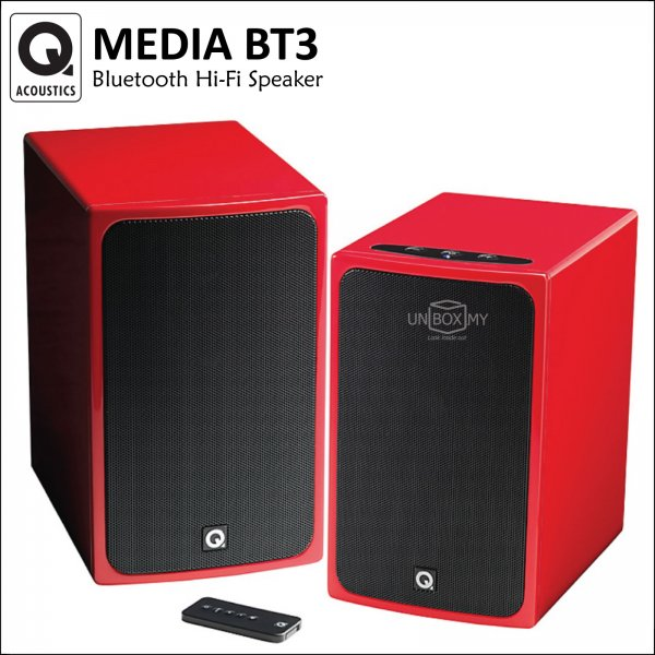 Q ACOUSTICS Media BT3 Bluetooth Hi-Fi Speaker (Juice Red)
