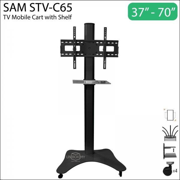 SAM STV-C65 37-70 inch Height Adjustable TV Cart