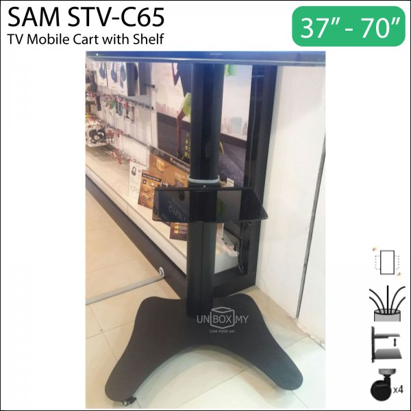 sam stv c65 tv cart unbox my. Black Bedroom Furniture Sets. Home Design Ideas