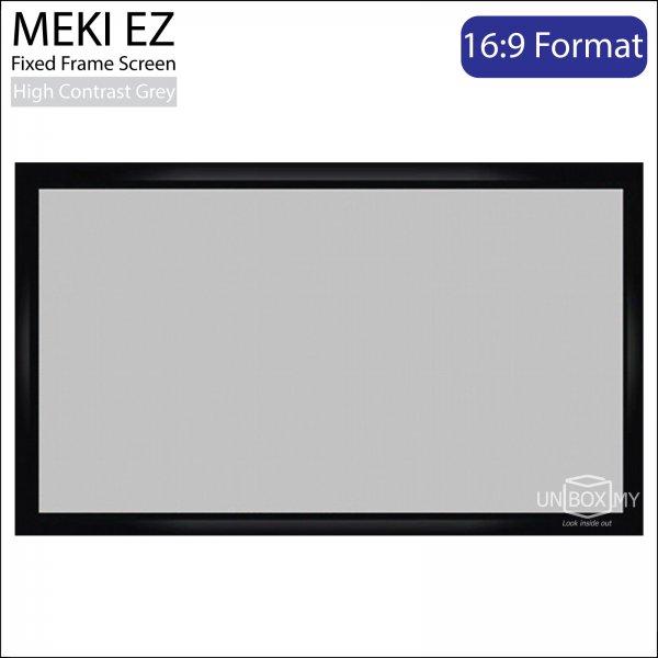 MEKI EZ Fixed Frame Projector Screen High Contrast Grey (HDTV 16:9)