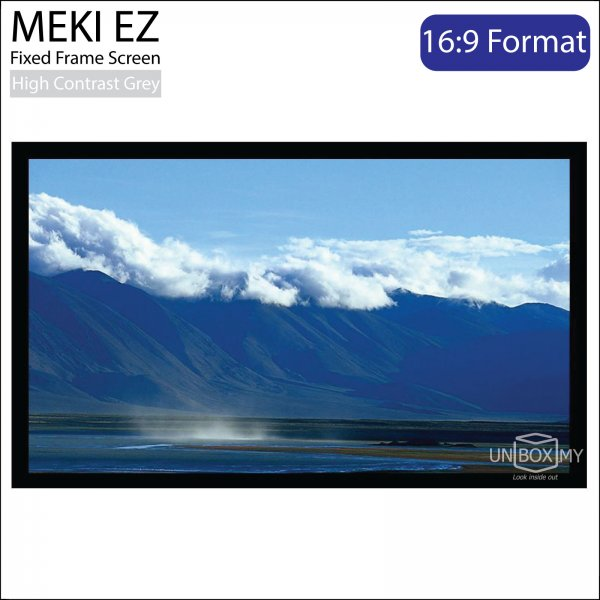 MEKI EZ Fixed Frame Projector Screen High Contrast Grey (HDTV 16:9)