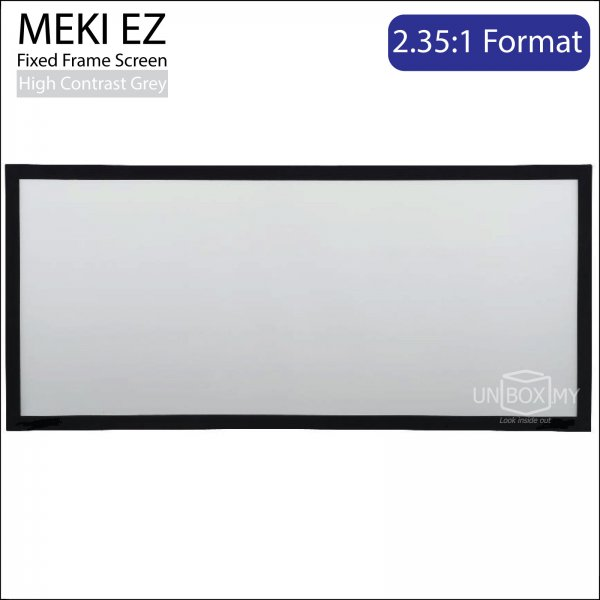 MEKI Fixed Frame Projector Screen High Contrast Grey (CinemaScope 2.35:1)