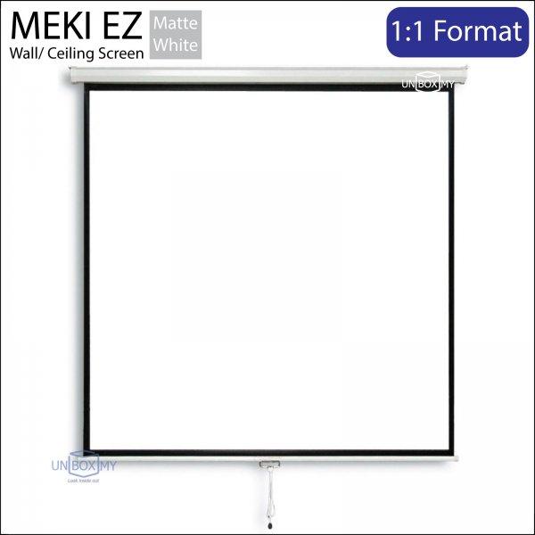 MEKI Manual Pull Down Projector Screen Matte White (AV 1:1)