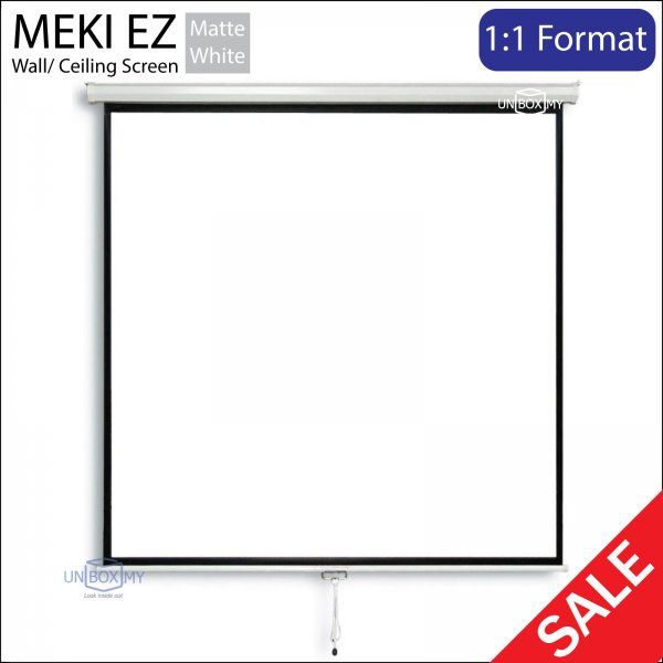 MEKI Manual Pull Down Projector Screen Matte White (AV 1:1)