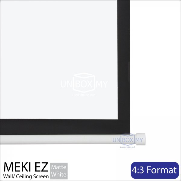 MEKI Manual Pull Down Projector Screen Matte White (NTSC 4:3)