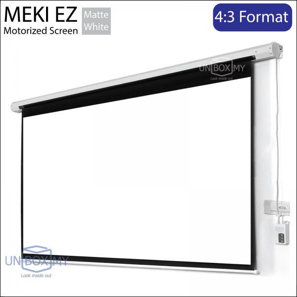 Meki Ez Motorized Projection Screen 4 3 Unbox My