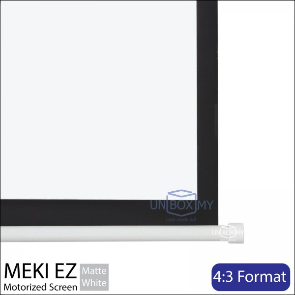 MEKI Motorized Roll Down Projector Screen Matte White (NTSC 4:3)