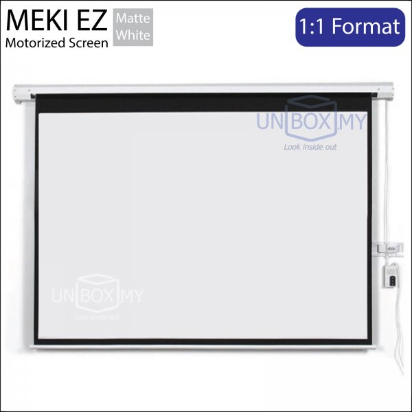 MEKI Motorized Roll Down Projector Screen Matte White (AV 1:1)