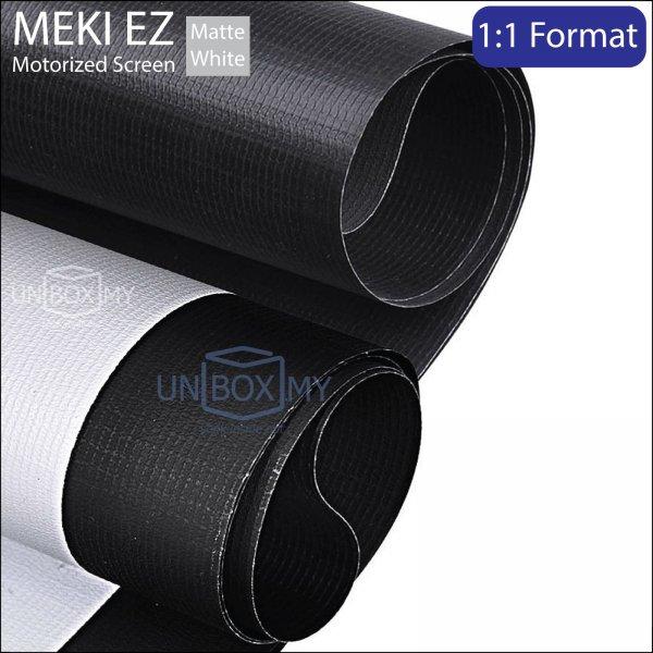 MEKI EZ Motorized Roll Down Projector Screen Matte White (AV 1:1)