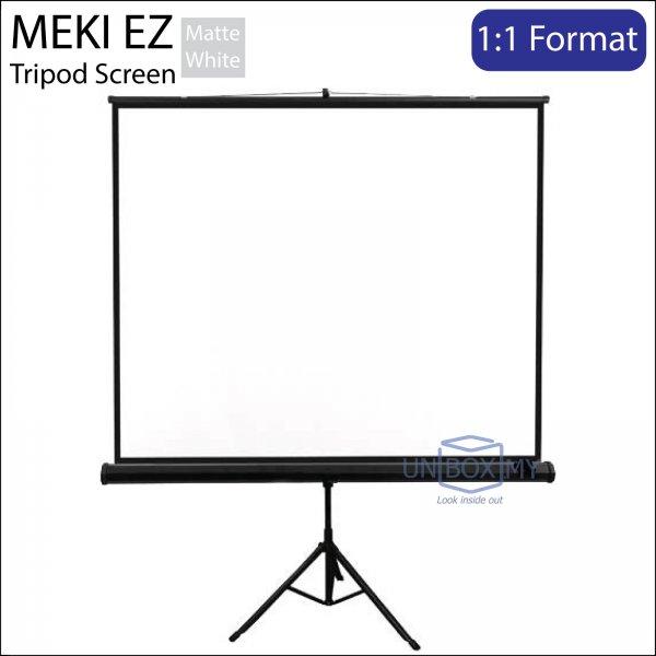 MEKI Portable Tripod Projector Screen Matte White (AV 1:1)