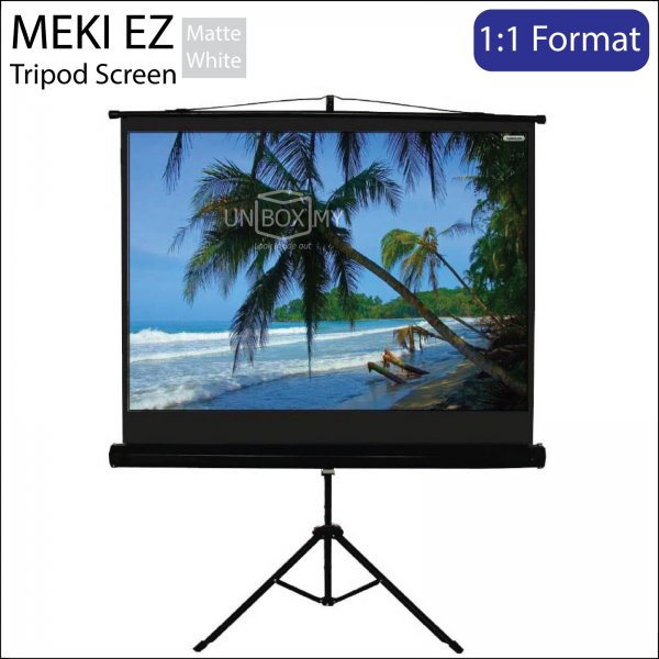 MEKI Portable Tripod Projector Screen Matte White (AV 1:1)