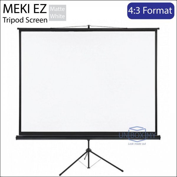 MEKI Portable Tripod Projector Screen Matte White (NTSC 4:3)