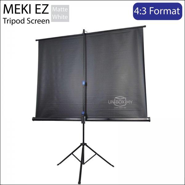 MEKI Portable Tripod Projector Screen Matte White (NTSC 4:3)