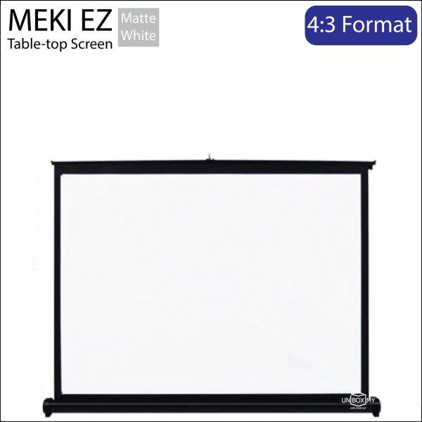 MEKI Table-top Portable Projector Screen Matte White NTSC (4:3)