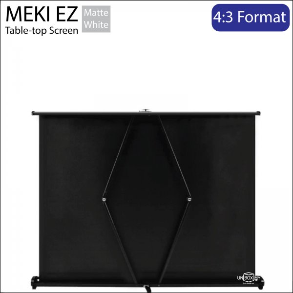 MEKI Table-top Portable Projector Screen Matte White NTSC (4:3)