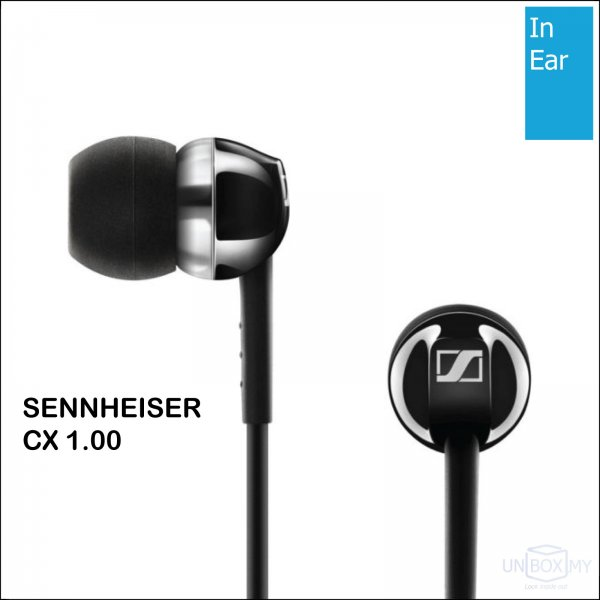 Sennheiser CX 1.00 In-ear Stereo Headphones (Black)