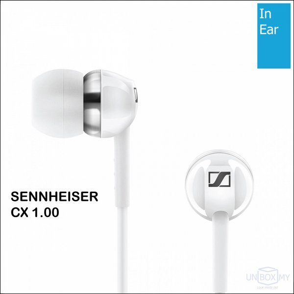 Sennheiser CX 1.00 In-ear Stereo Headphones (White)
