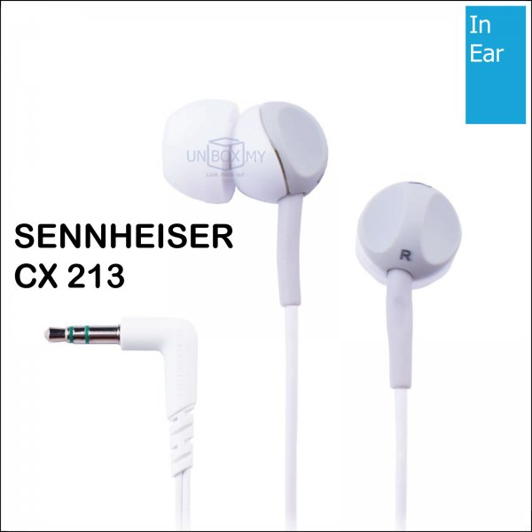 Sennheiser CX 213 In-ear Stereo Headphones (White)