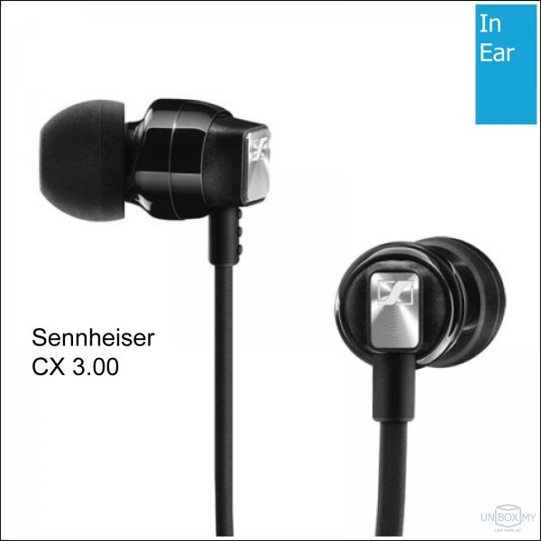 Sennheiser CX 3.00 In-ear Headphones (Black)