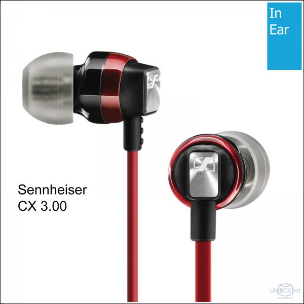 Sennheiser CX 3.00 In-ear Headphones (Red)