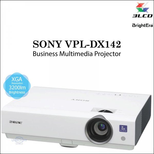 Sony VPL-DX142 3LCD XGA Business Multimedia Projector