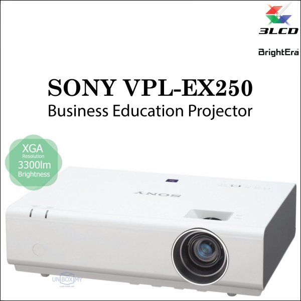Sony VPL-EX250 3LCD XGA Business Education Projector