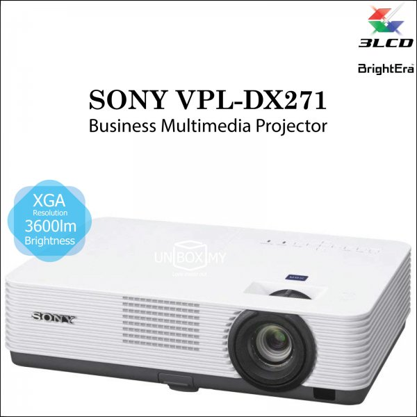 Sony VPL-DX271 3LCD XGA Business Education Projector