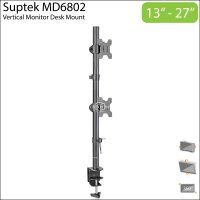 Suptek MD6802 Dual Monitor Vertical Desk Mount Stand