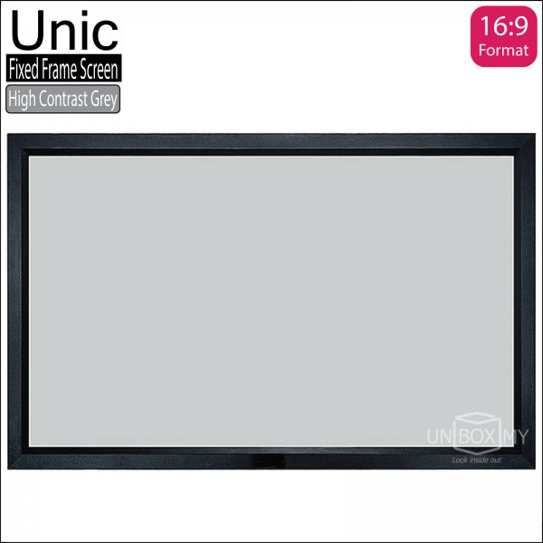 Unic Fixed Frame Projector Screen High Contrast Grey (HDTV 16:9)