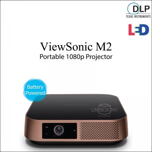 ViewSonic M2 DLP LED Full HD 1080p Portable Projector