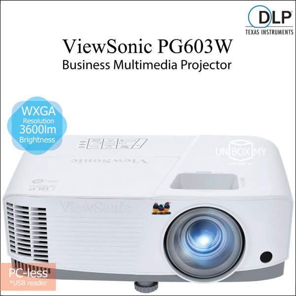ViewSonic PG603W DLP WXGA Business Education Projector