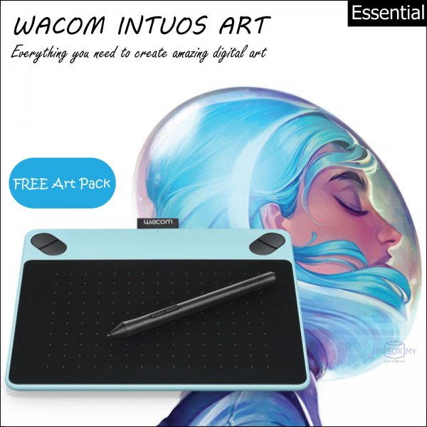 Wacom Intuos Art Pen and Touch Tablet Small (Mint Blue)