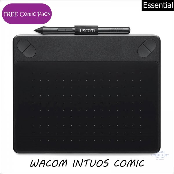 Wacom Intuos Comic Pen and Touch Tablet Small (Black)