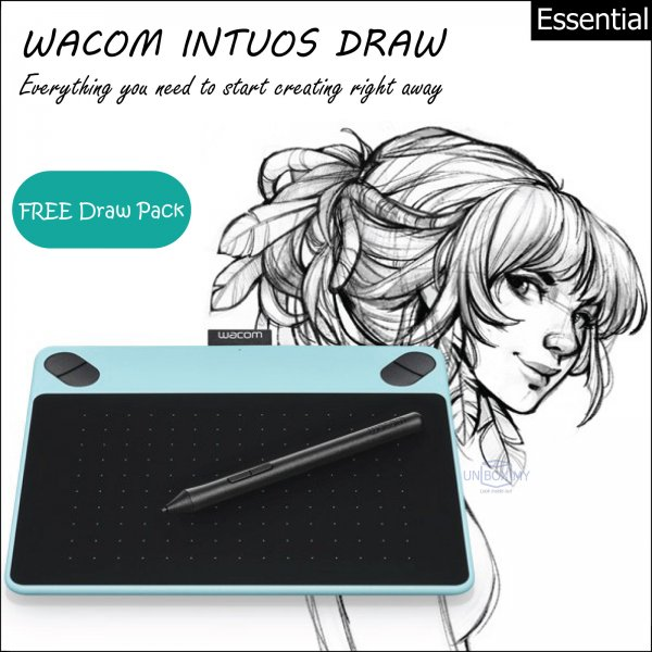 Wacom Intuos Draw Pen Tablet Small (Mint Blue)