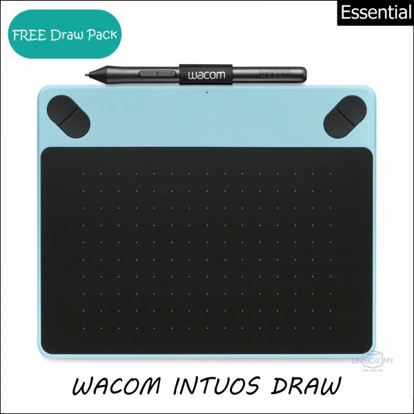 Wacom Intuos Draw Pen Tablet Small (Mint Blue)