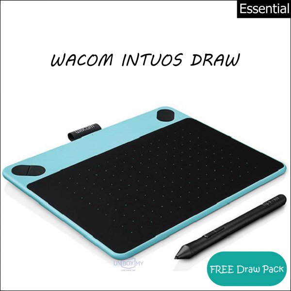 wacom intuos draw pen tablet mint blue unbox my. Black Bedroom Furniture Sets. Home Design Ideas