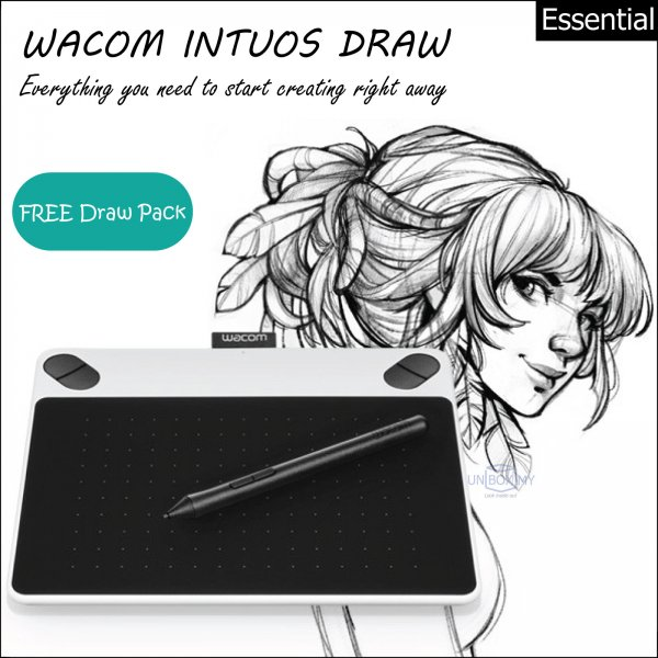 Wacom Intuos Draw Pen Tablet Small (White)