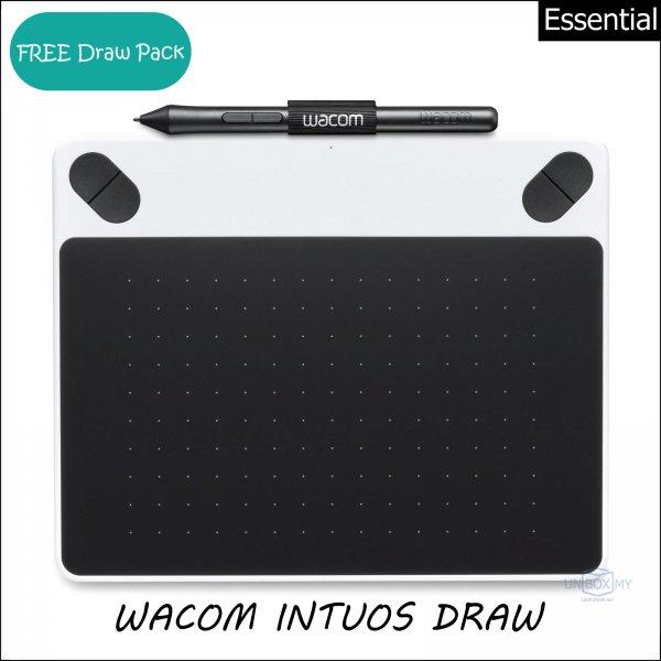 Wacom Intuos Draw Pen Tablet Small (White)