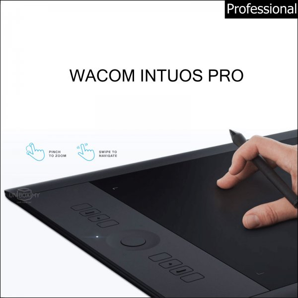 Wacom Intuos Pro Pen and Touch Tablet (Black)