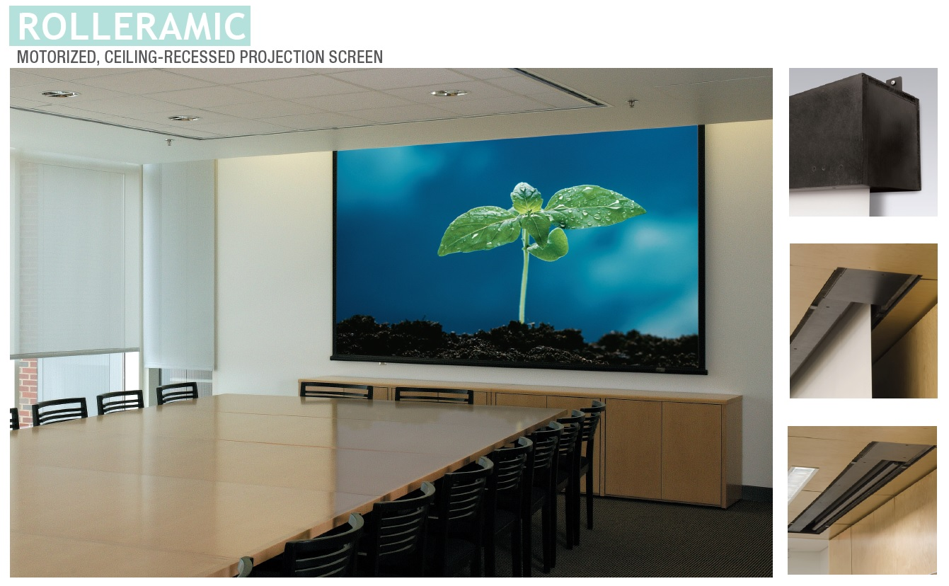 Draper Rolleramic Electric Projection Screen Matte White 1